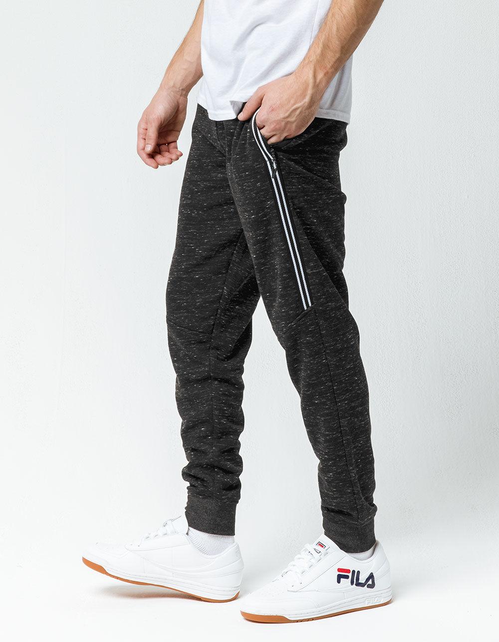 Image of BROOKLYN CLOTH SNOW FLEECE BLACK JOGGER PANTS