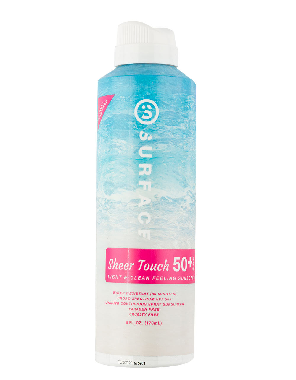 Surface Products Corp. SPF 50+ Sheer Touch Spray, 6 oz.