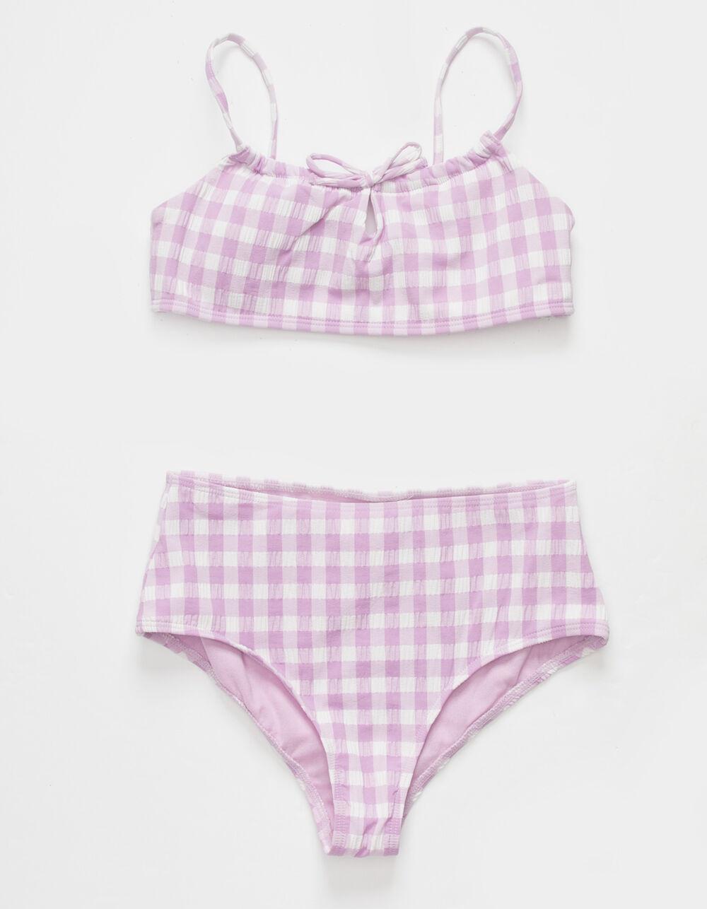 FULL TILT Gingham Tie Front Girls Bikini Set
