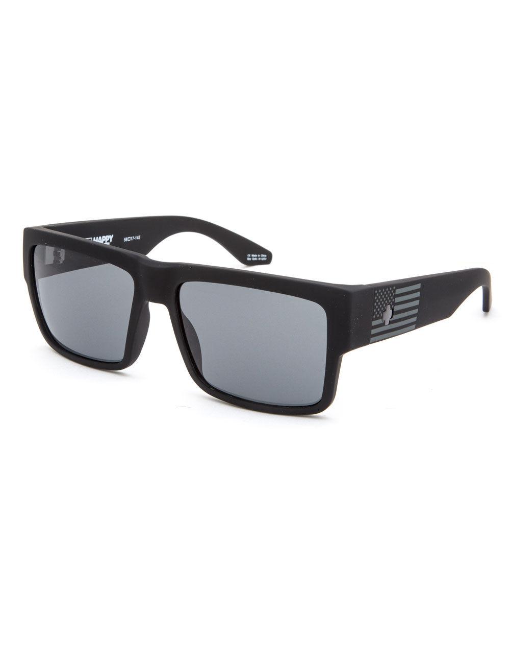 SPY Cyrus Matte Black Flag Sunglasses