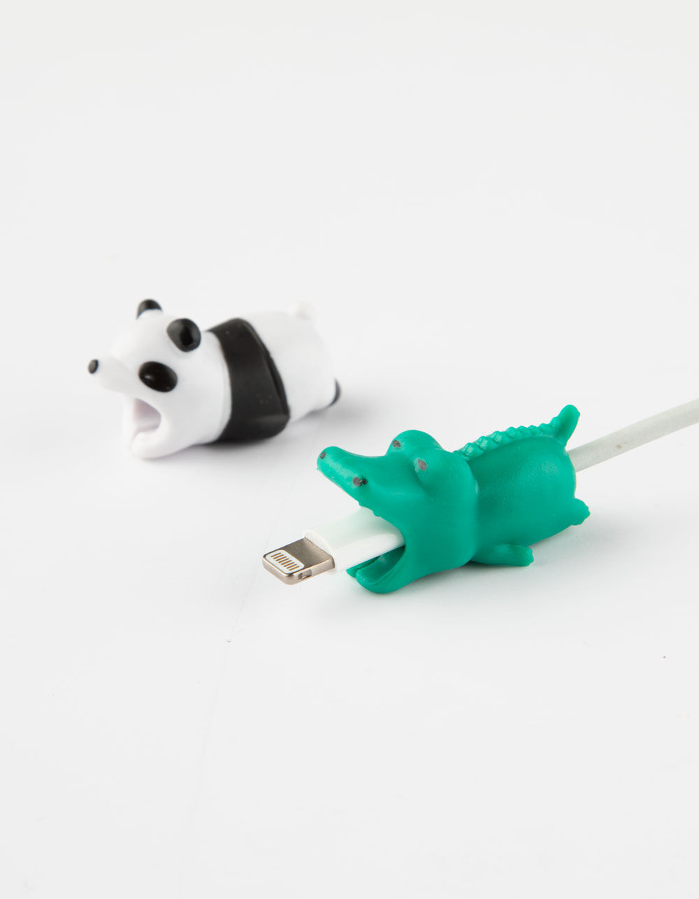 Image of 2 PACK PANDA & CROCODILE CABLE BYTE CABLE PROTECTORS