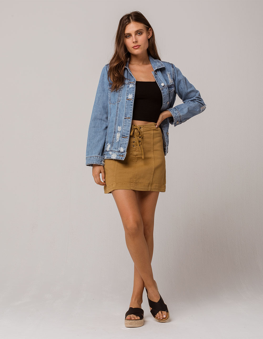 OTHERS FOLLOW Lace Up Skirt