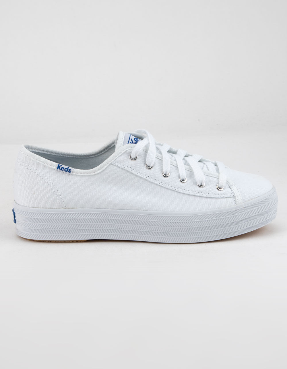 KEDS Triple Kick White Platform Shoes