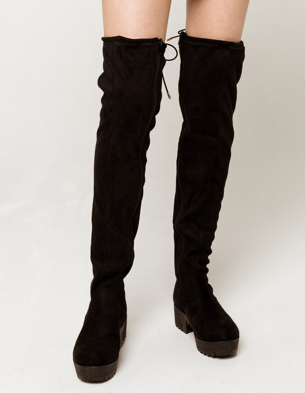 BAMBOO Lug Sole Over The Knee Boots