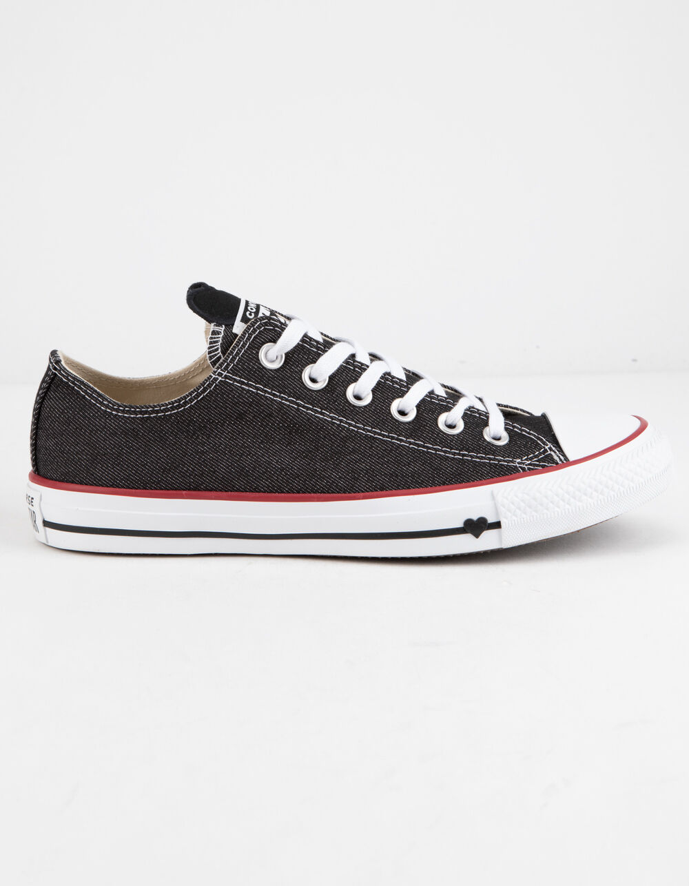 Image of CONVERSE CHUCK TAYLOR ALL STAR DENIM LOVE LOW TOP SHOES