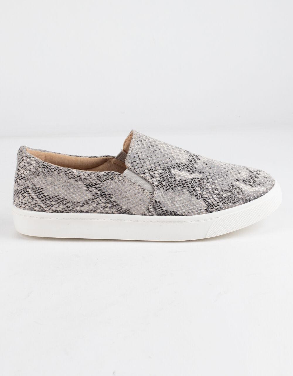 SODA Reign Beige Python Slip-On Shoes