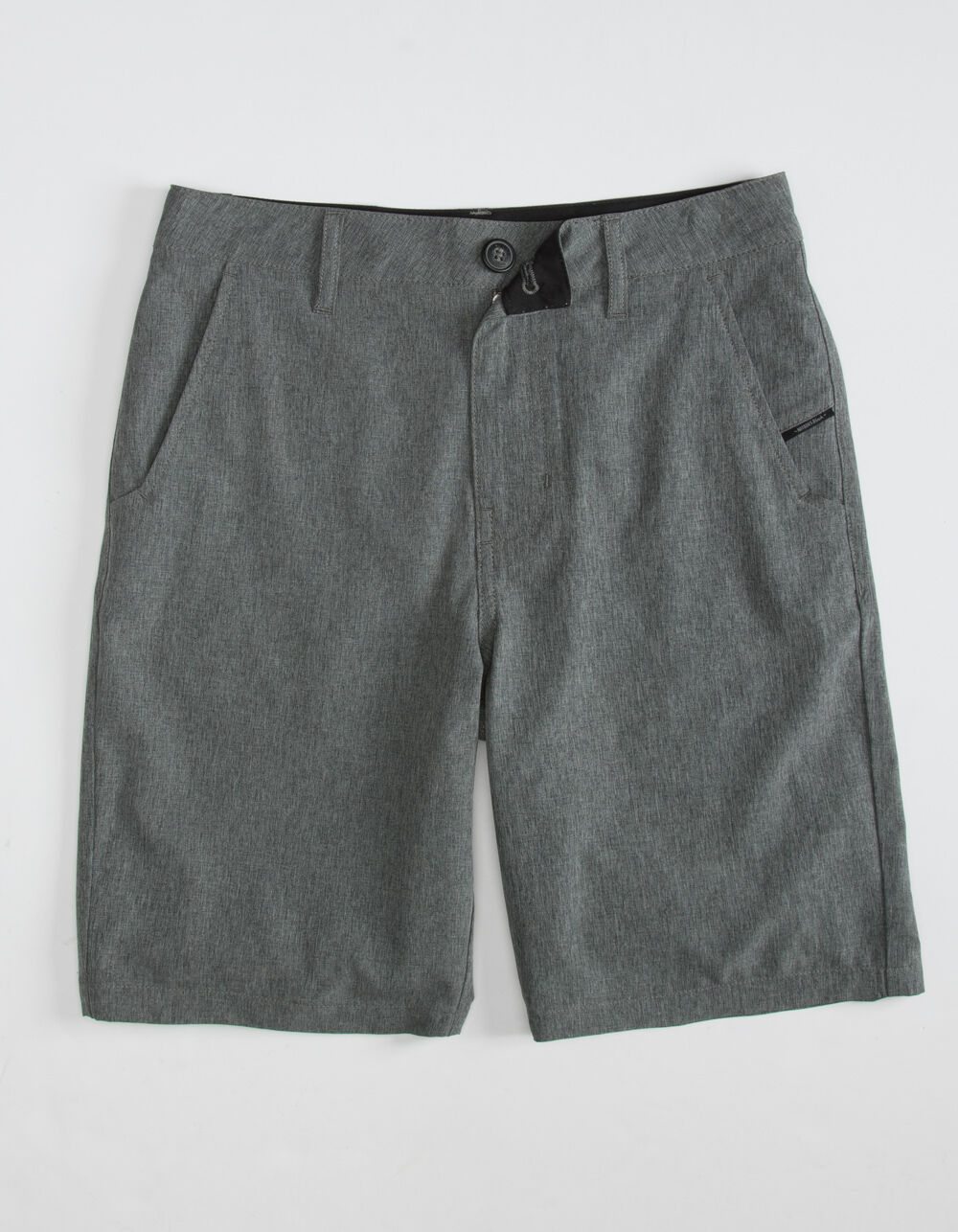 NITROUS BLACK Format Boys Charcoal Hybrid Shorts
