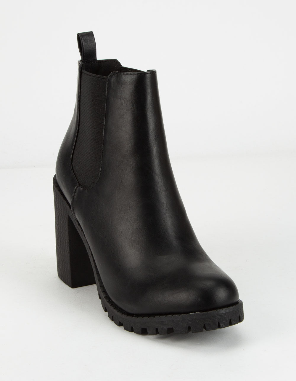SODA Lug Sole Double Gore Ankle Boots