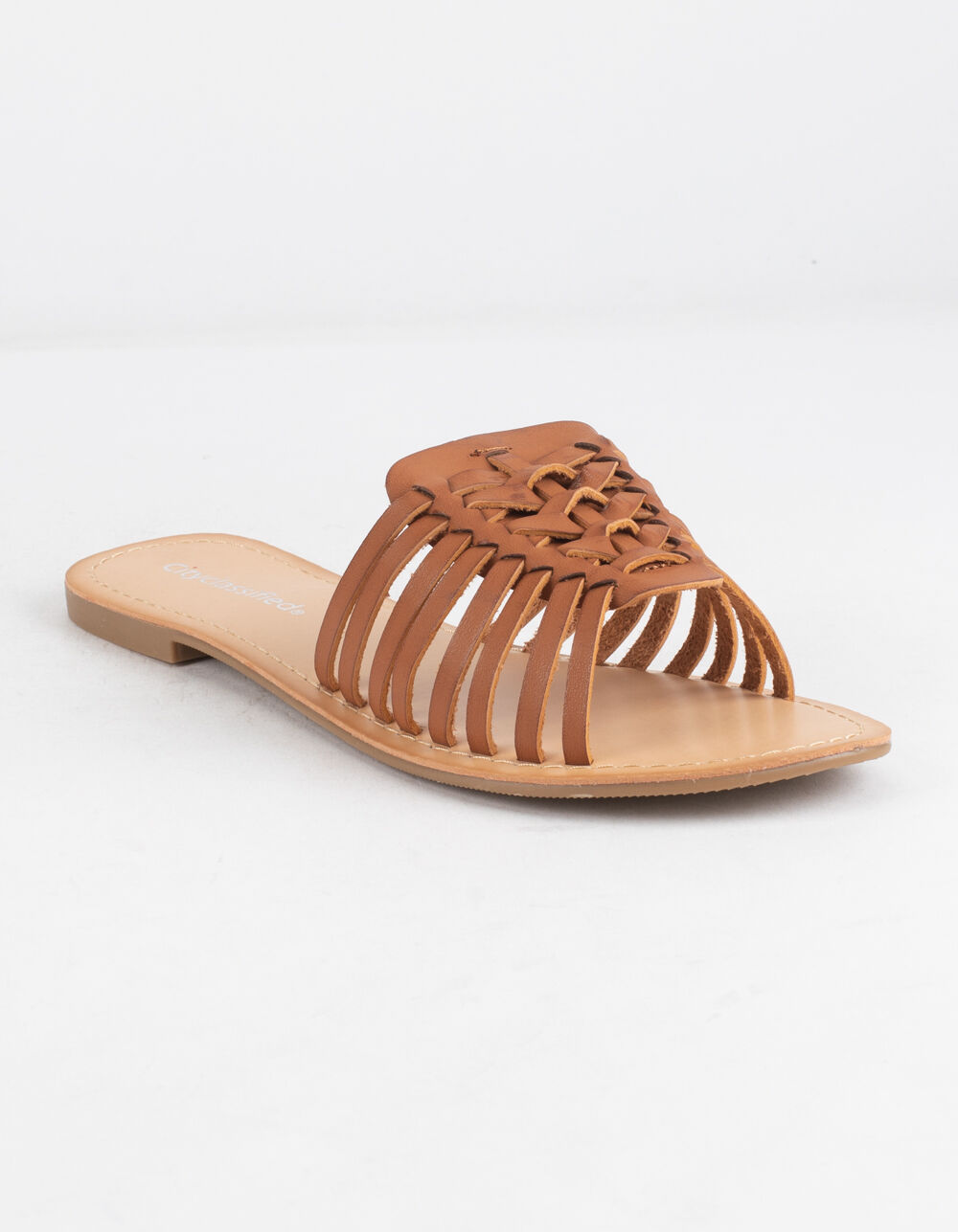 Image of CITY CLASSIFIED BASKET WEAVE TAN SANDALS
