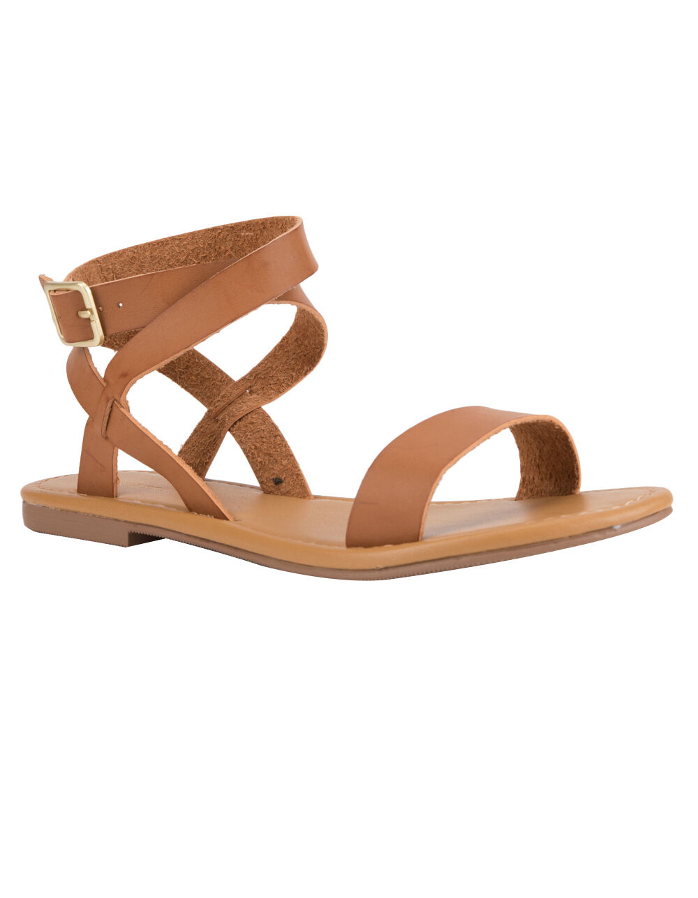 CITY CLASSIFIED BASIC ANKLE WRAP SANDALS