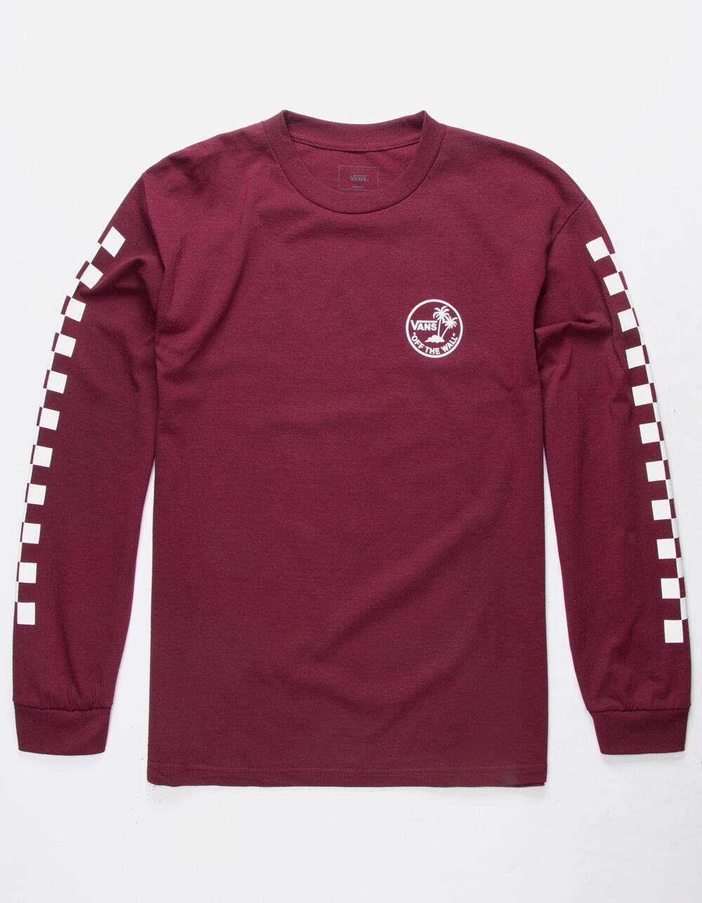 VANS Dual Palm Check Burgundy T-Shirt