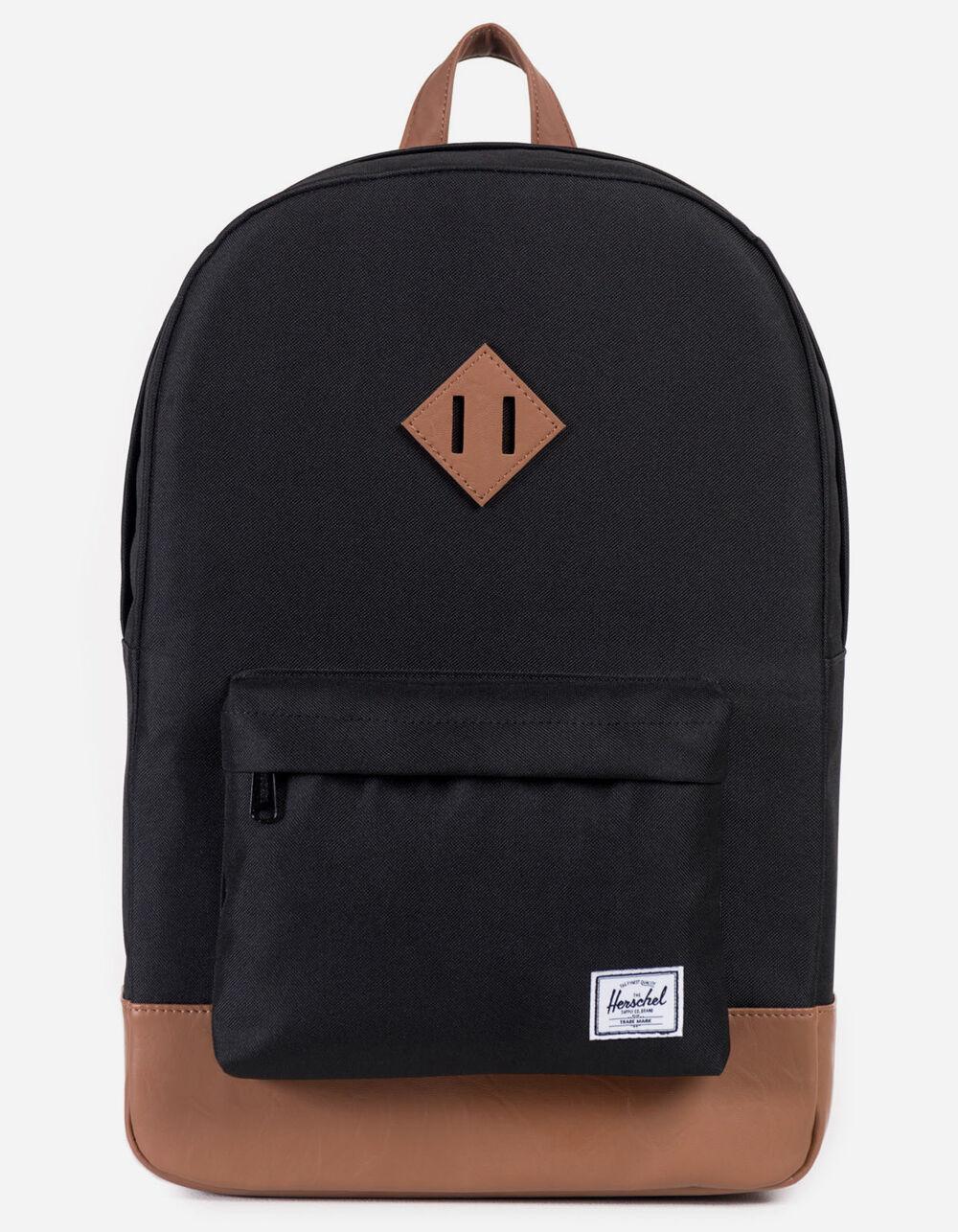 HERSCHEL SUPPLY CO. Heritage Black & Tan Backpack