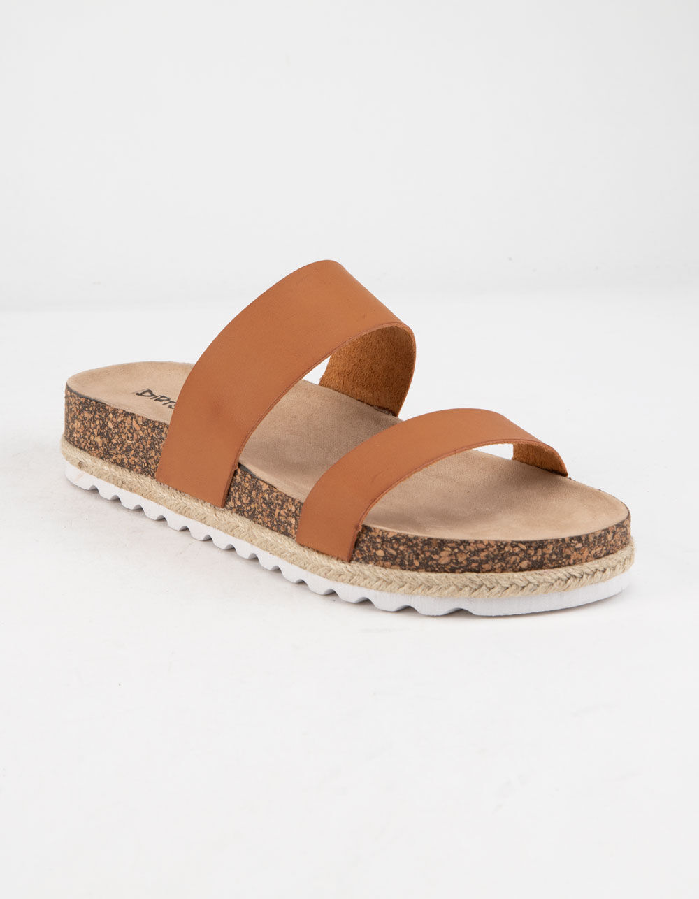 Image of DIRTY LAUNDRY DOUBLE PLAY COGNAC ESPADRILLE FLATFORM SANDALS