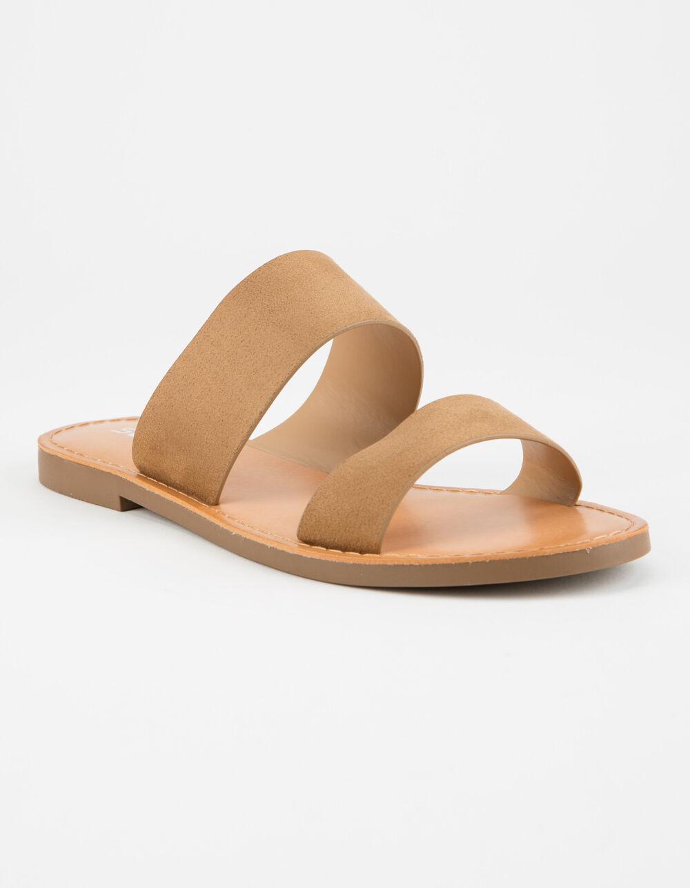 SODA Double Strap Tan Sandals
