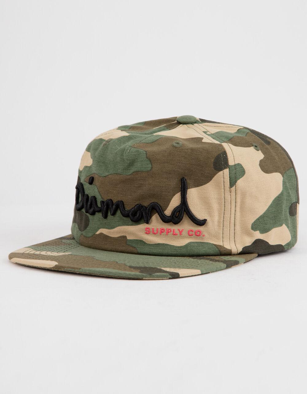 DIAMOND SUPPLY CO. OG Scrip Camo Strapback Hat