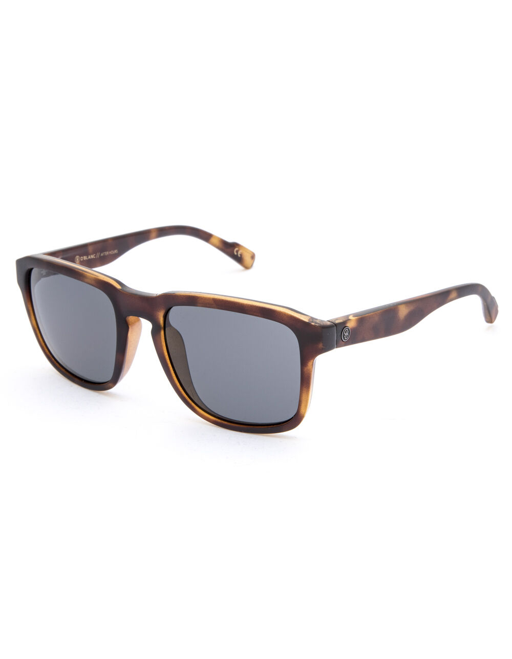 Image of D'BLANC AFTER HOURS VISSLA FLAT GLOSS TORT & COBALT POLARIZED SUNGLASSES