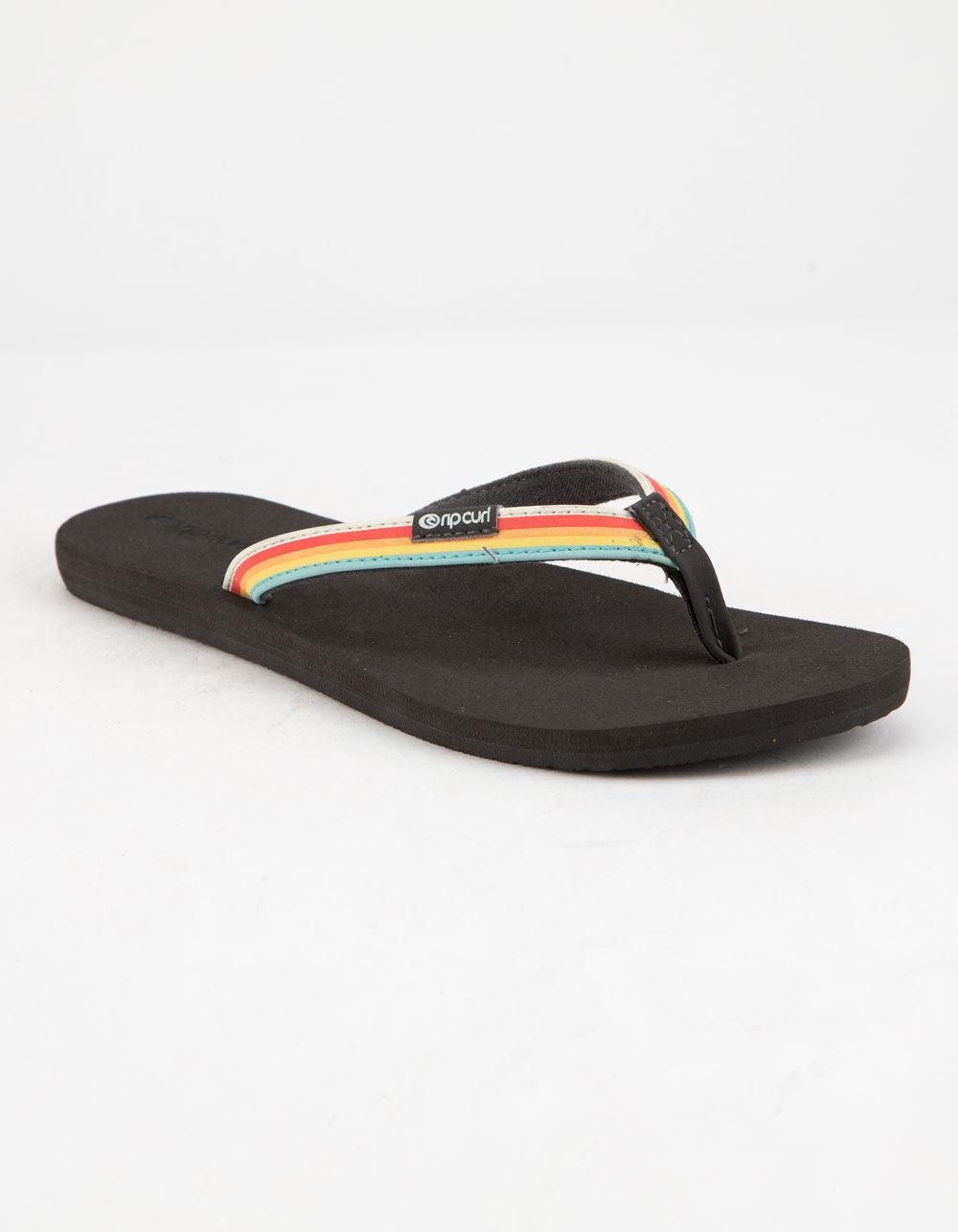 RIP CURL Freedom Black Sandals