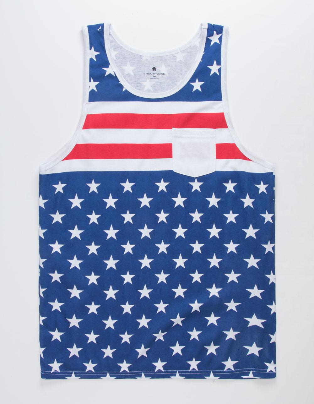 SHOUTHOUSE Americana Pocket Tank Top