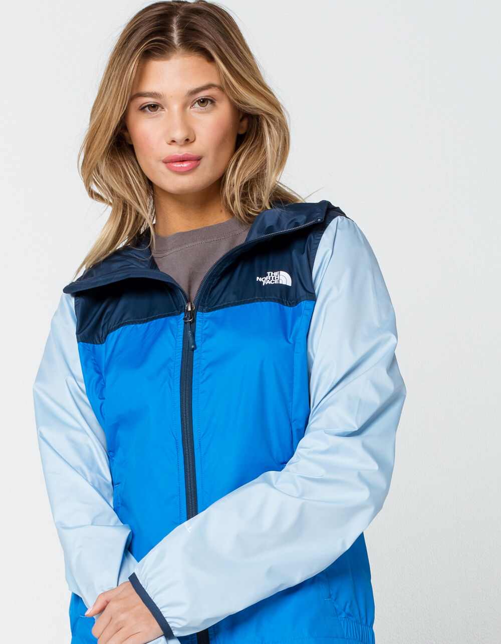 THE NORTH FACE Cyclone Packable Blue Windbreaker Jacket