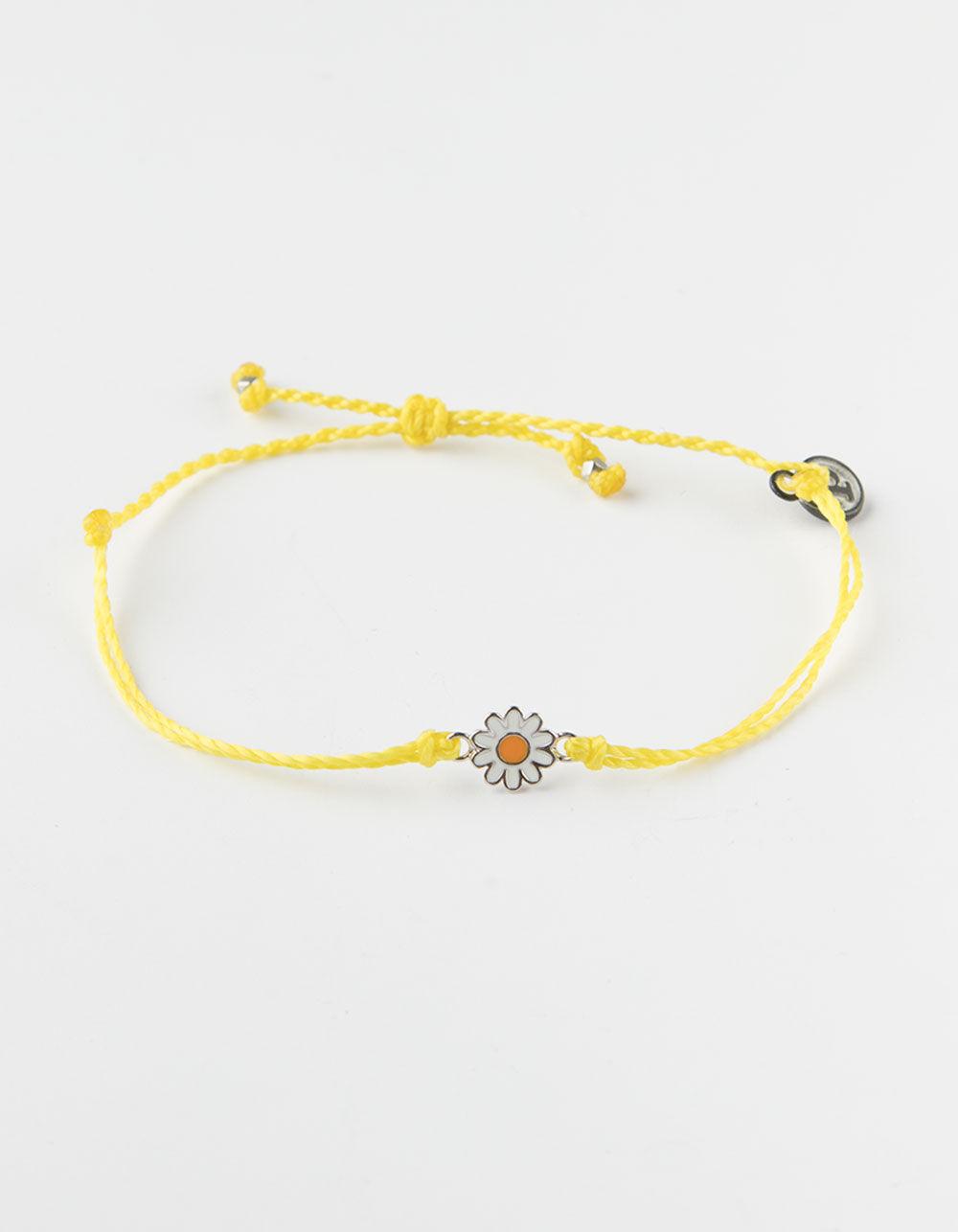 PURA VIDA Daisy Yellow Bracelet