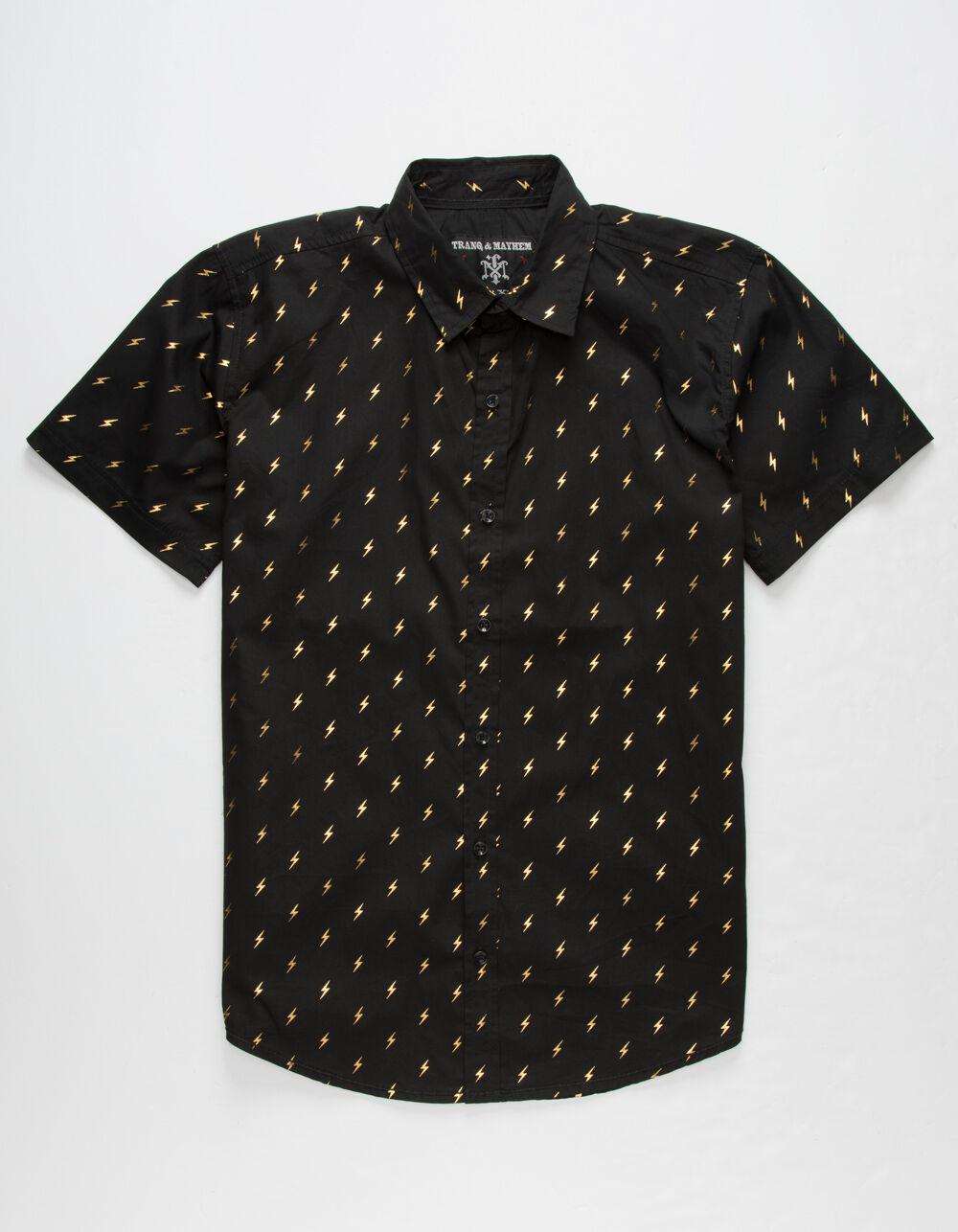 Image of TRANQUILITY & MAYHEM Bolts Boys Button-Up Shirt