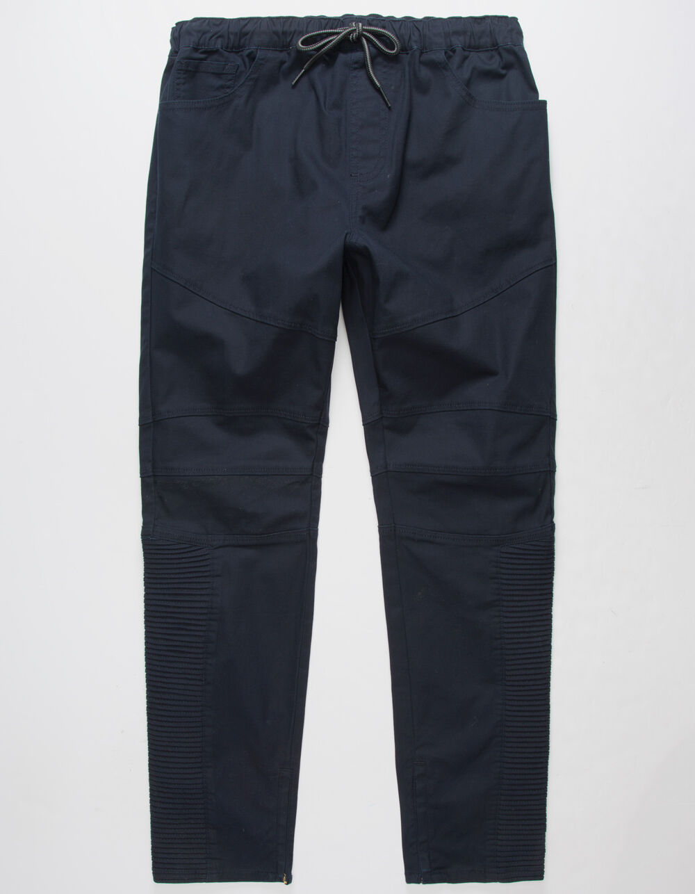 EAST POINTE Moto Knee Twill Jogger Pants