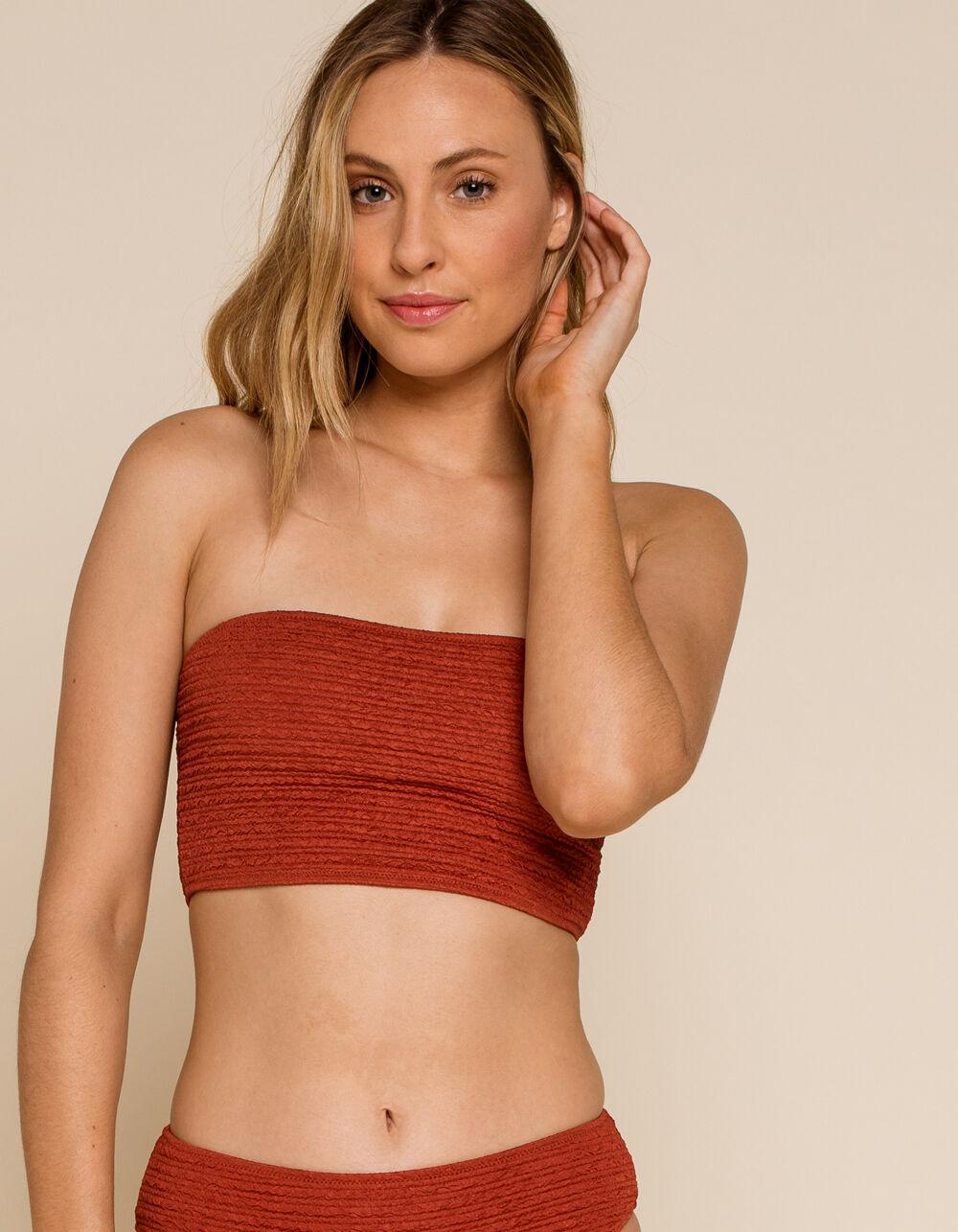 WEST OF MELROSE Heat Wave Long Bandeau Bikini Top