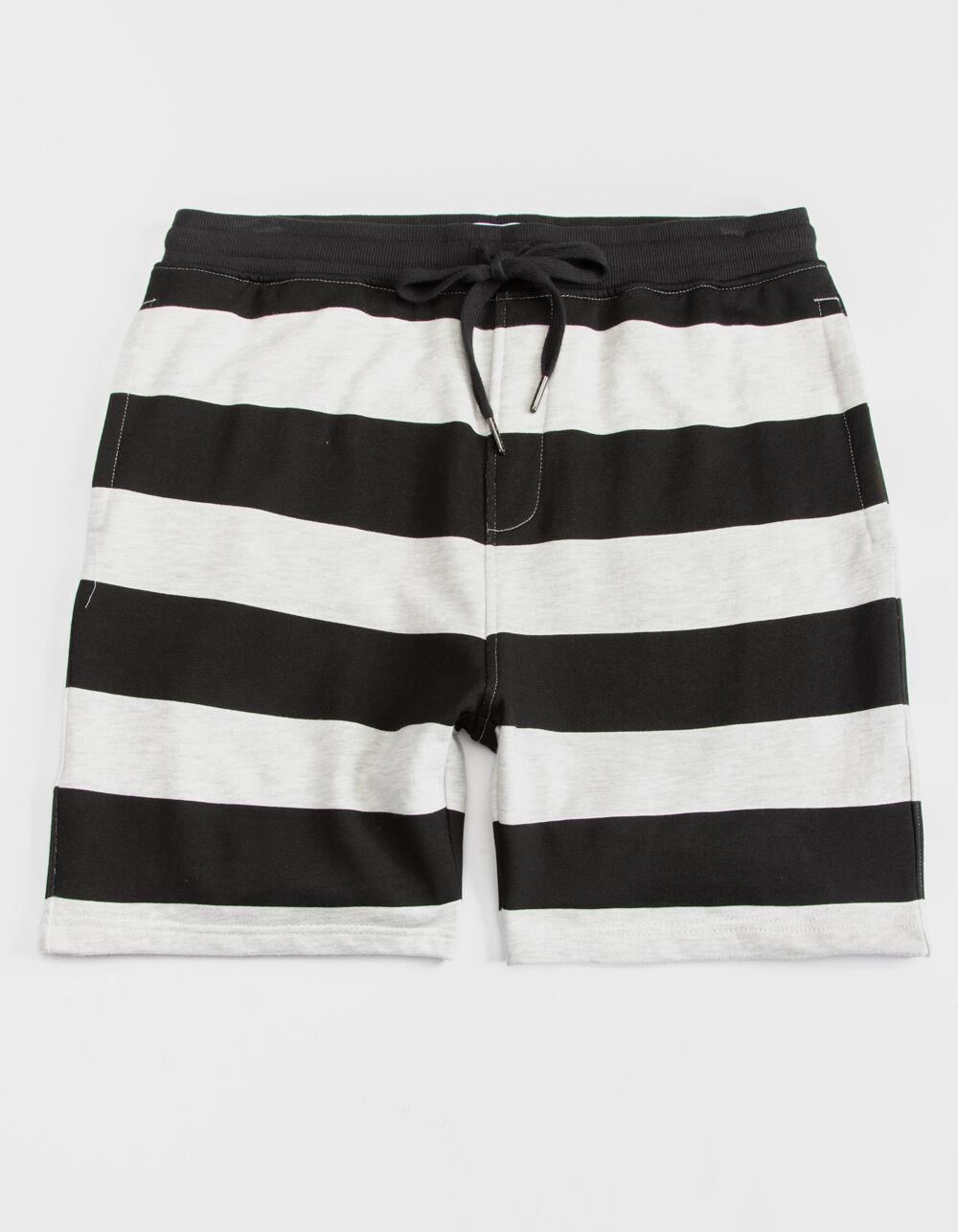 Image of CYA DENVER STRIPE BLACK & WHITE SWEAT SHORTS