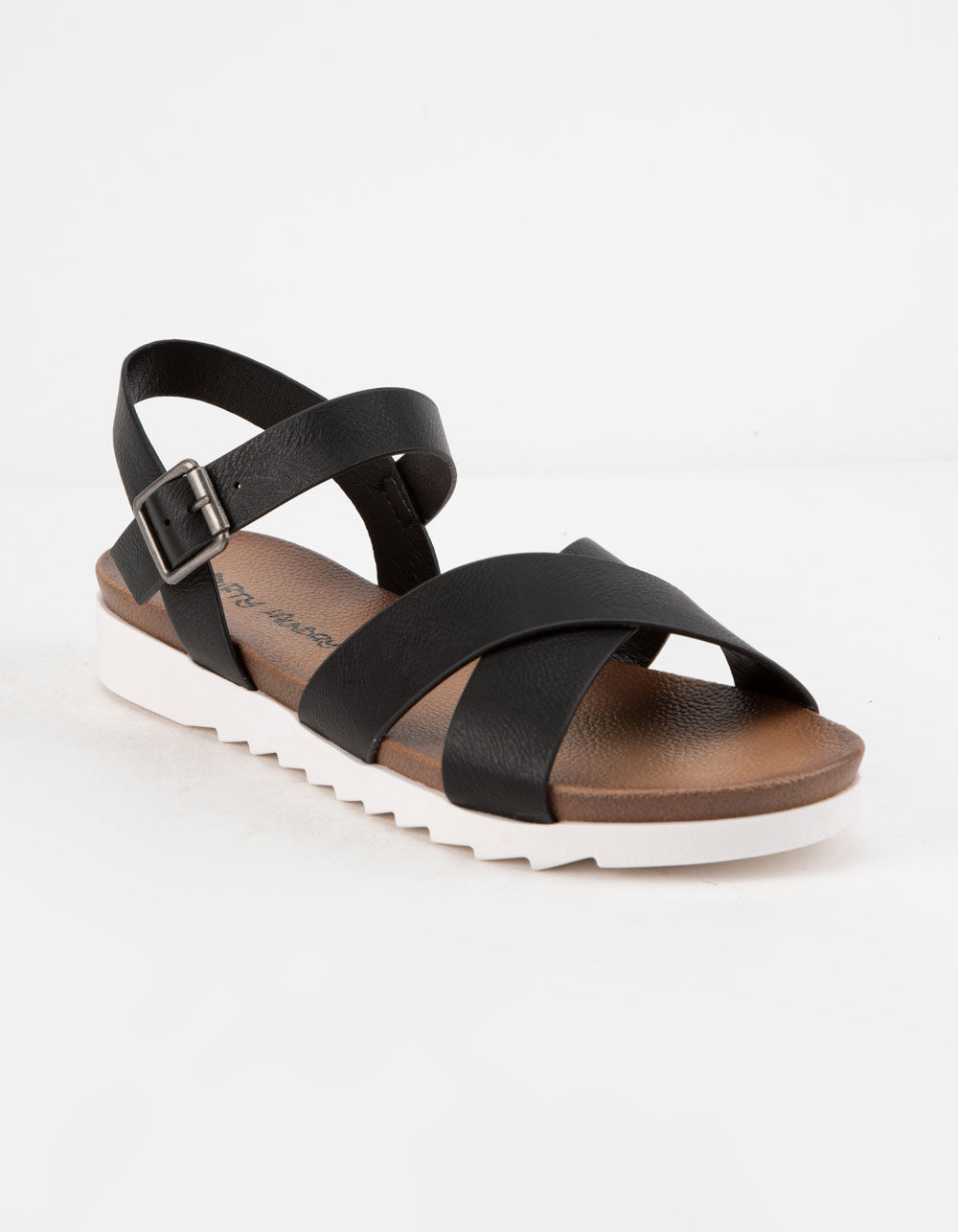 Image of DIRTY LAUNDRY CHARLEY CHICAGO BLACK ANKLE SANDALS