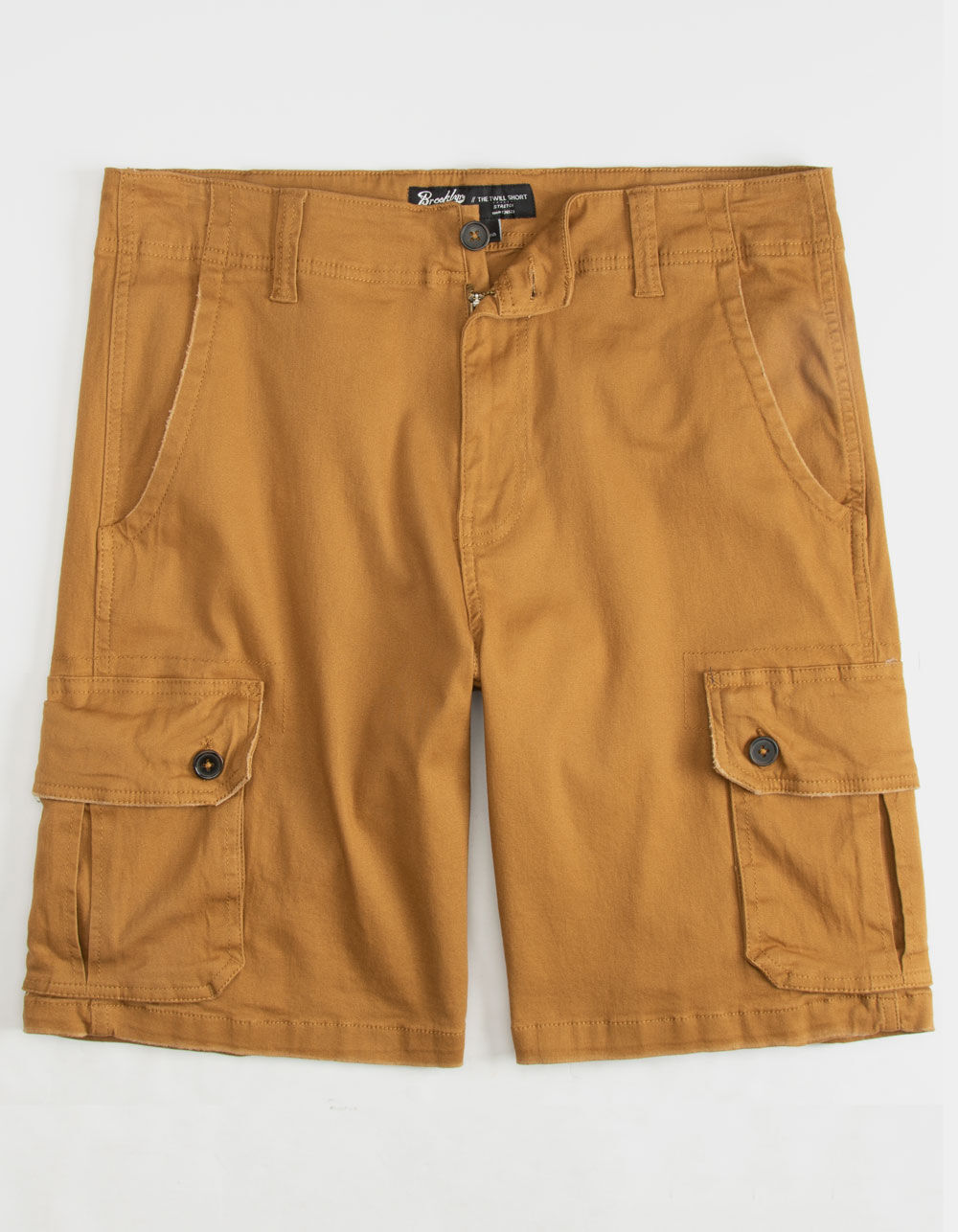 Image of BROOKLYN CLOTH CAMEL CARGO SHORTS