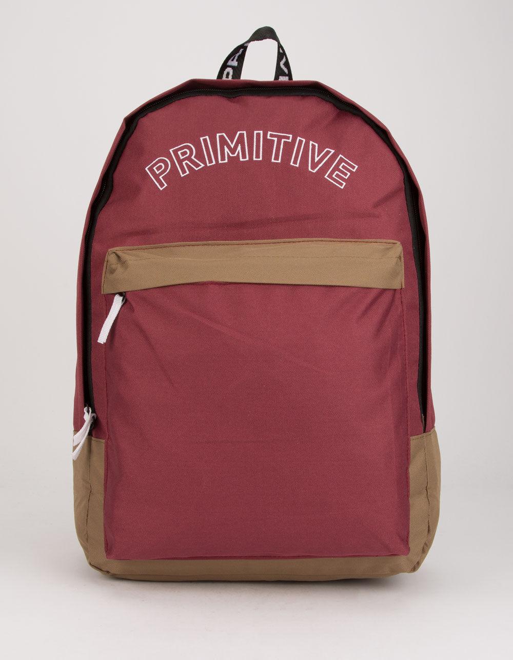 PRIMITIVE Blocked Homeroom Burgundy Backpack