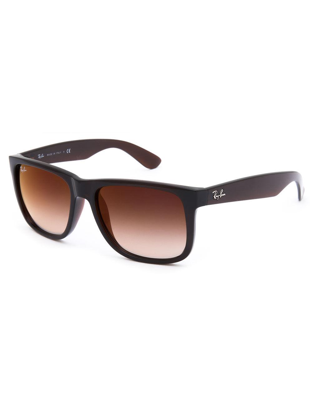 RAY-BAN Justin Flash Gradient Brown Sunglasses