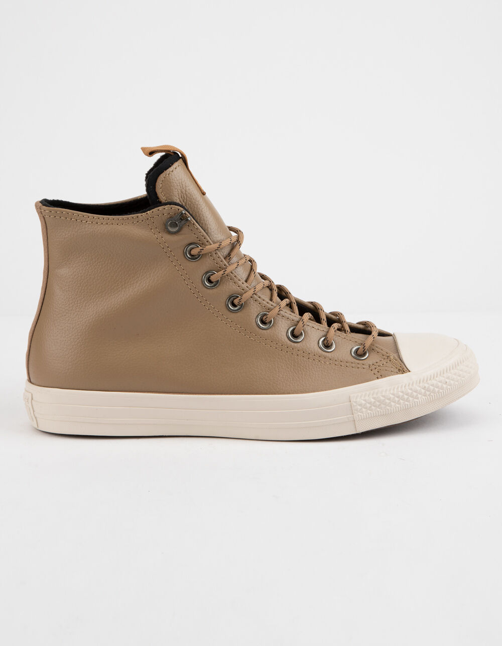 Image of CONVERSE CHUCK TAYLOR ALL STAR LEATHER TEAK & DRIFTWOOD HIGH TOP SHOES