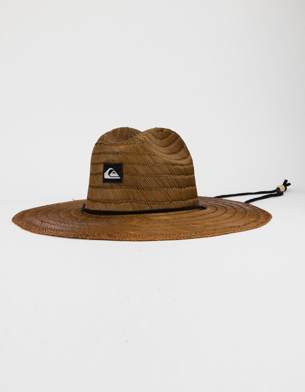 QUIKSILVER Pierside Brown Lifeguard Straw Hat