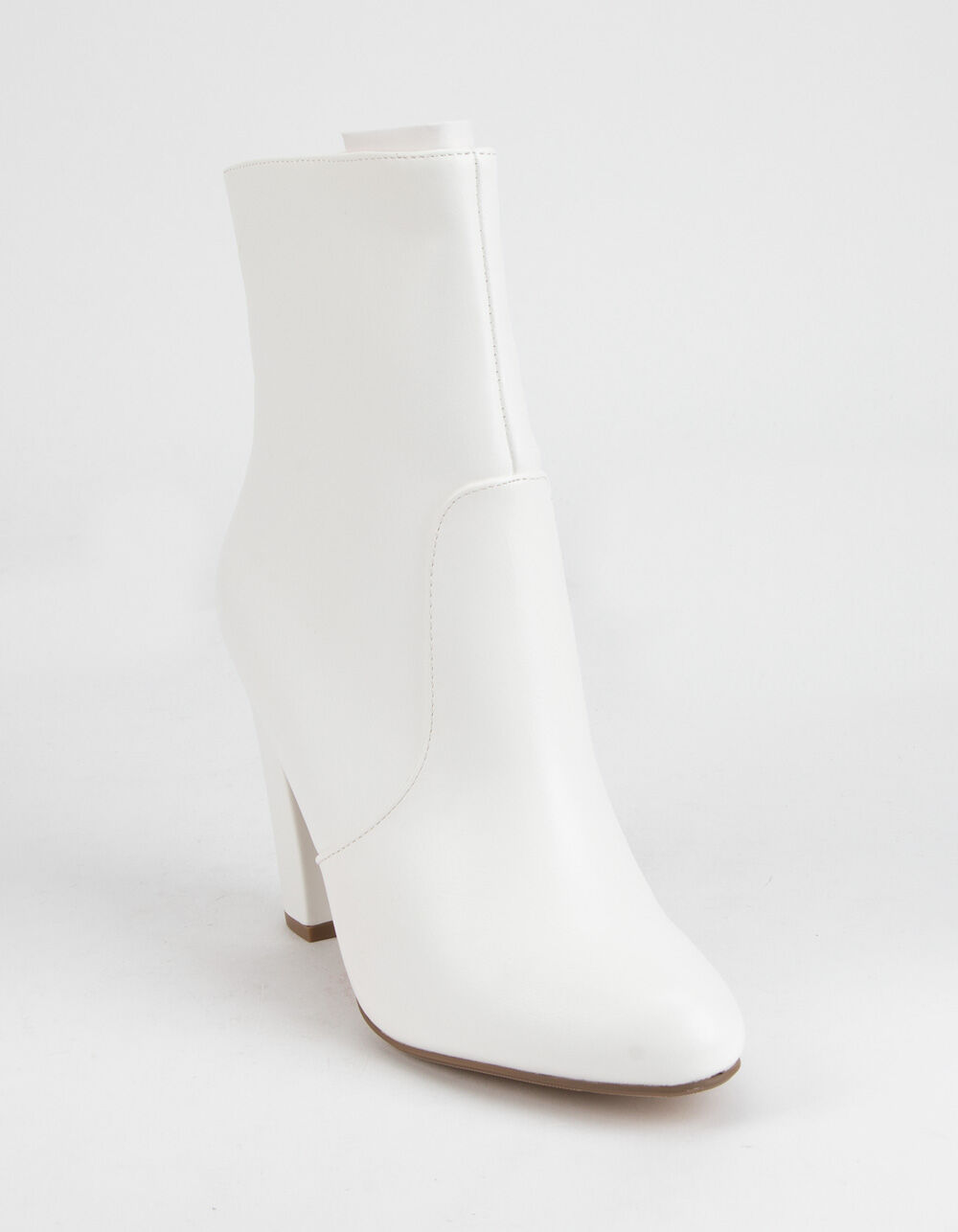 DELICIOUS Curved Heel Ankle Boots