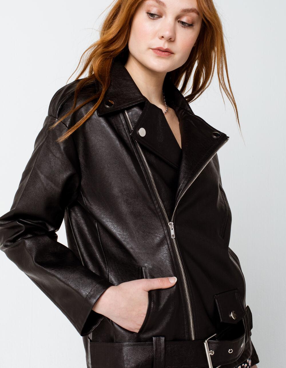 Image of KNOW ONE CARES Oversized Moto Jacket