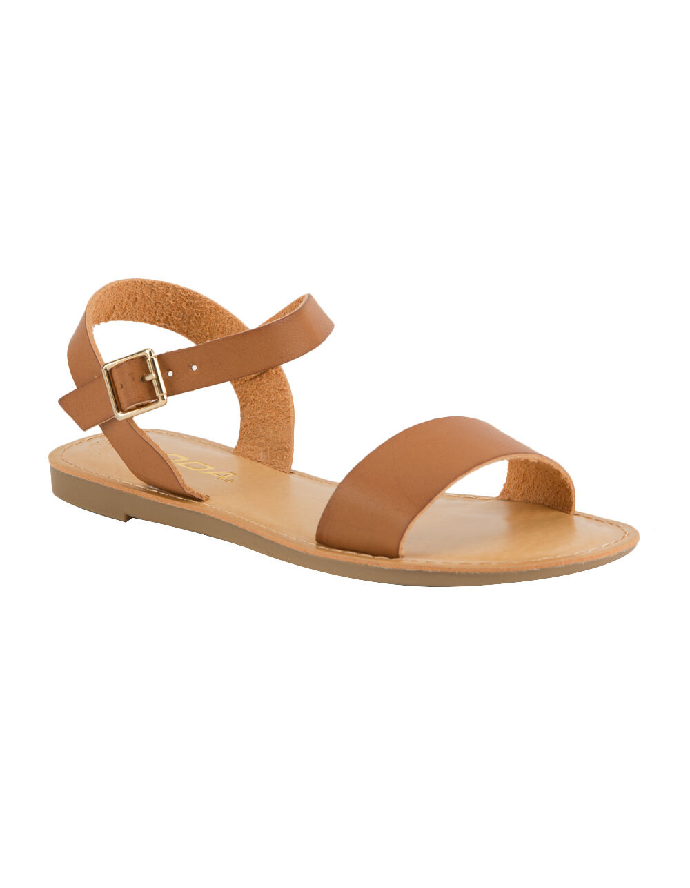 SODA ANKLE STRAP GIRLS TAN SANDALS