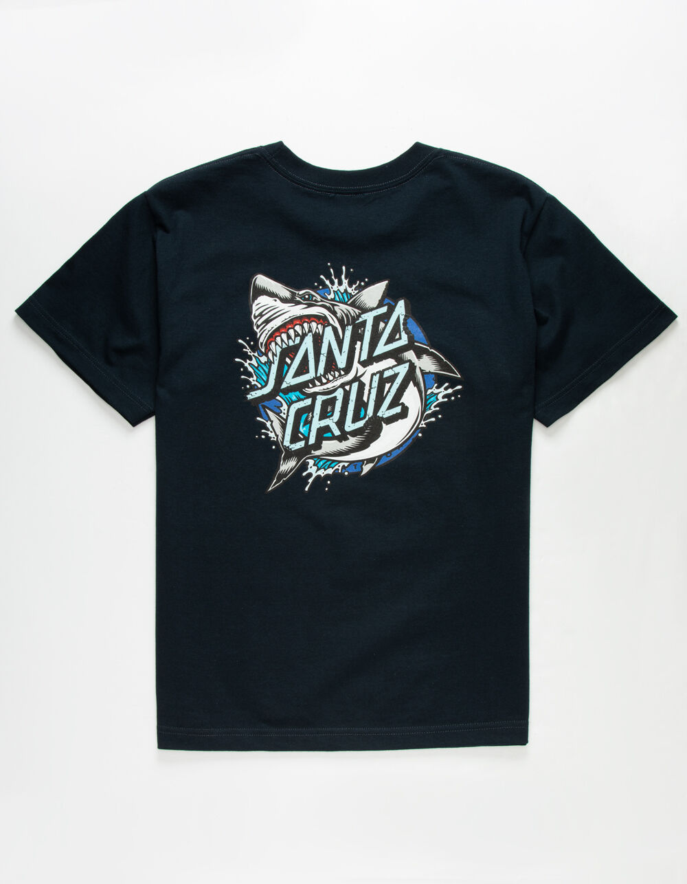 SANTA CRUZ Shark Dot Navy Boys T-Shirt