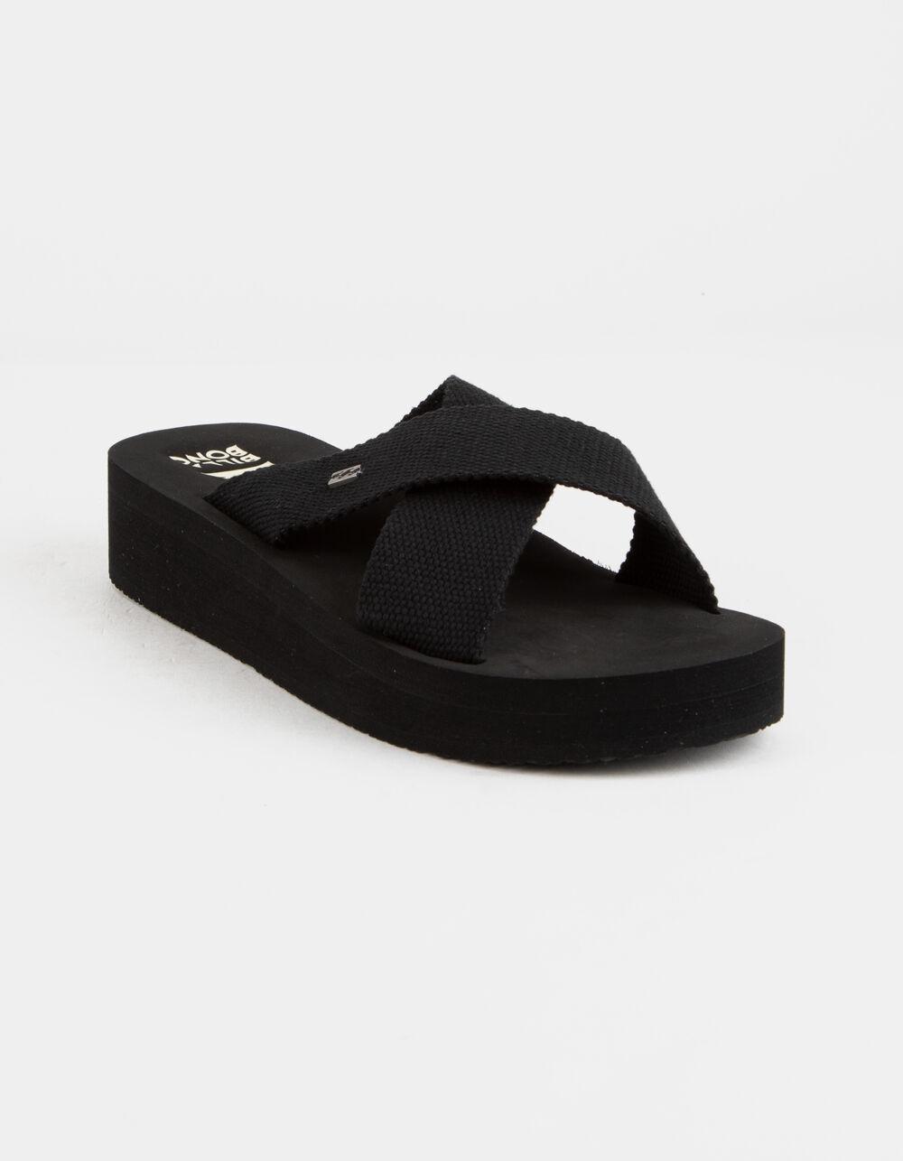 BILLABONG Boardwalk Black Flatform Sandals