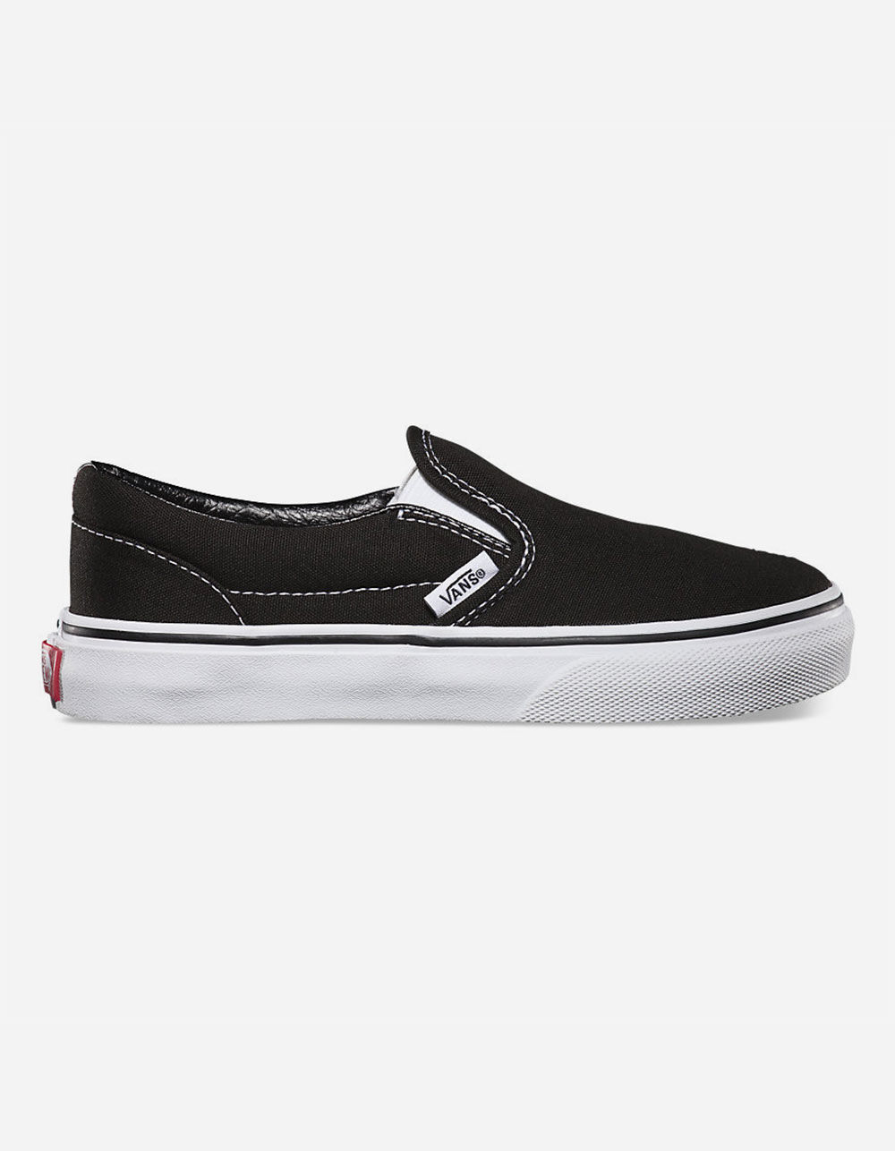 VANS CLASSIC SLIP-ON BLACK & WHITE KIDS SHOES
