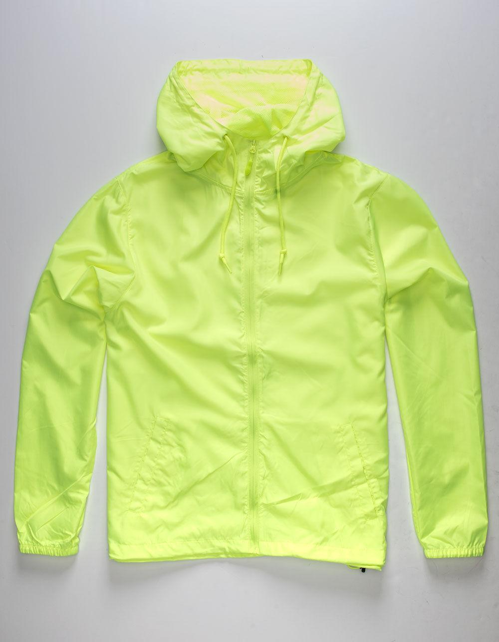 INDEPENDENT TRADING COMPANY Lightweight Neon Yellow Windbreaker Jacket