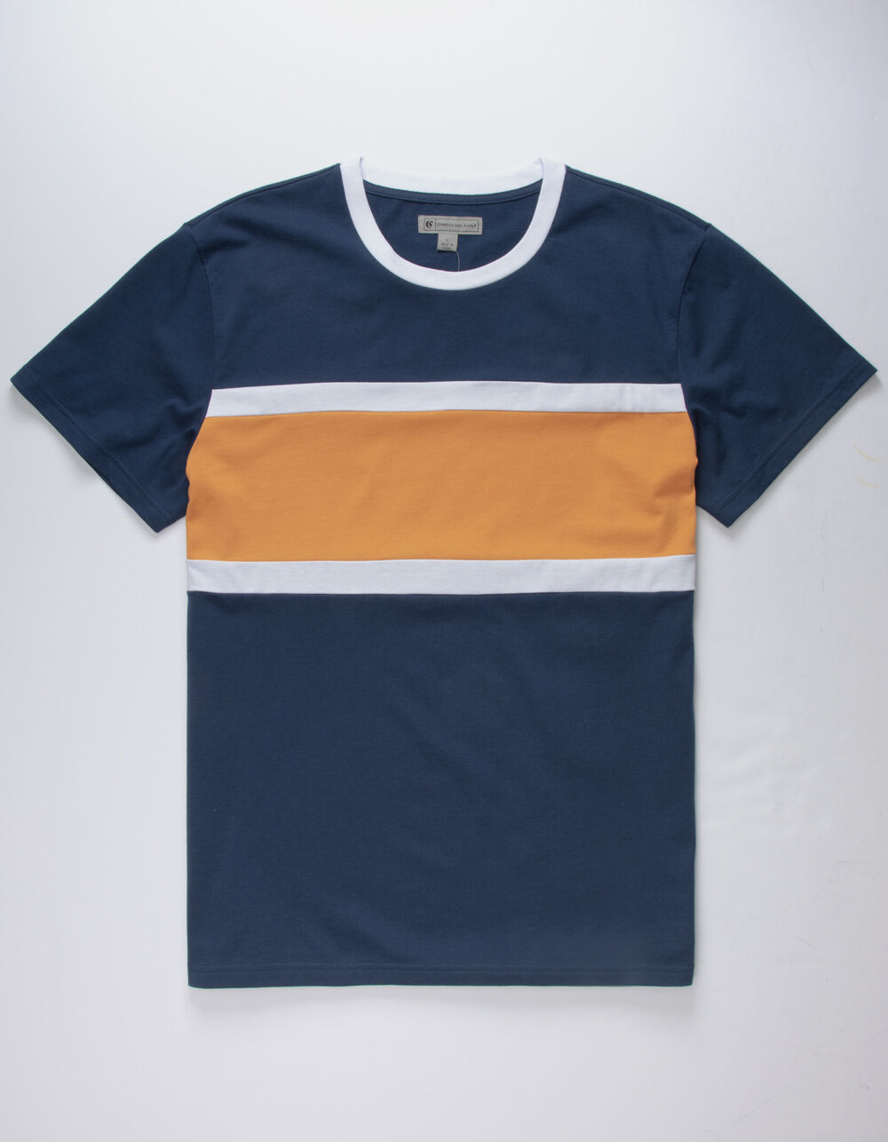Image of CHARLES AND A HALF CHEST STRIPE T-SHIRT