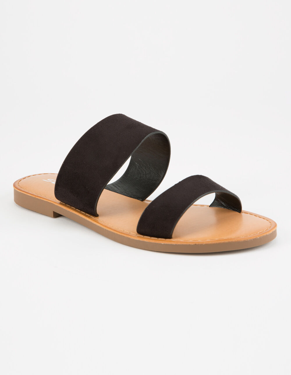 SODA Double Strap Black Sandals