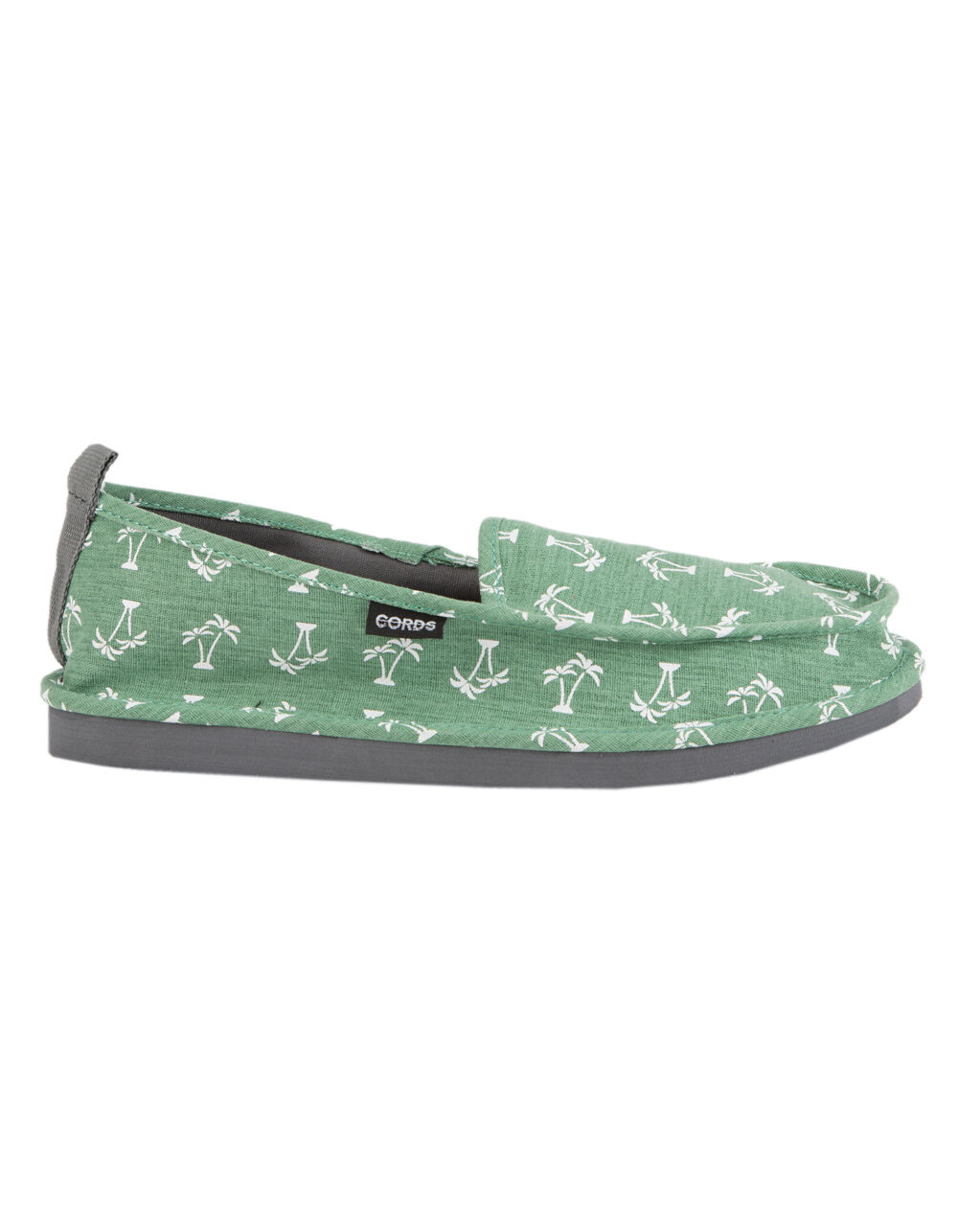 Image of CORDS DRAPER DECONSTRUCTED GREEN SLIPPERS