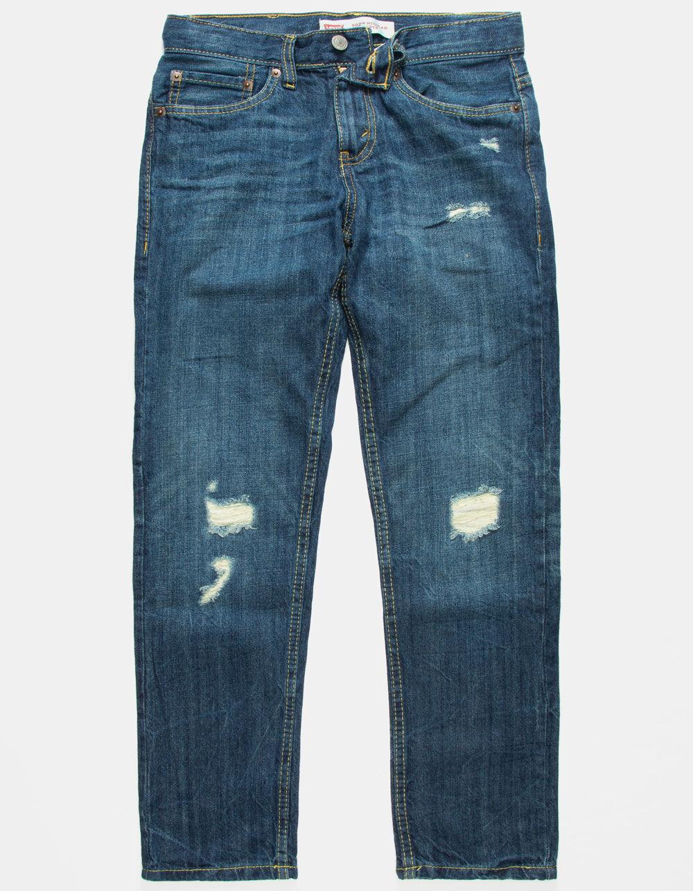 LEVI'S 502 Regular Taper Fit Boys Ripped Jeans