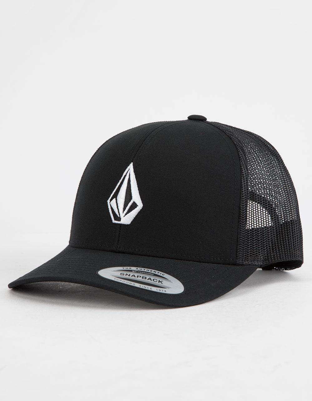 VOLCOM Full Stone Cheese Black Trucker Hat