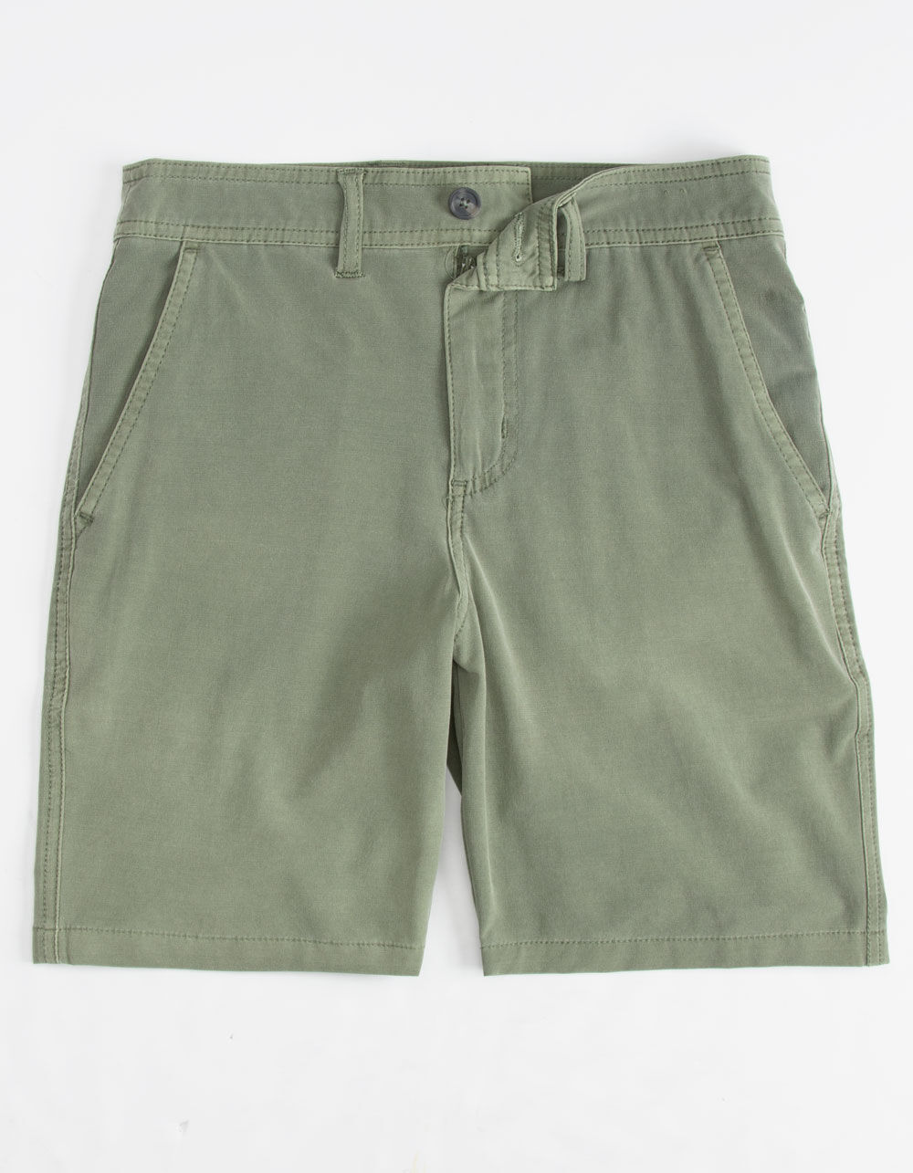 VALOR Pigment Dyed Olive Boys Hybrid Shorts