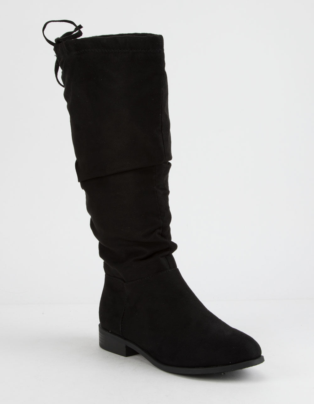 CITY CLASSIFIED Slouch Calf Black Boots