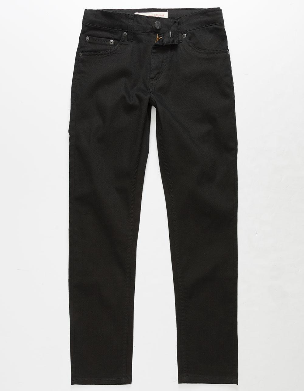 LEVI'S 502 Regular Taper Fit Black Boys Jeans