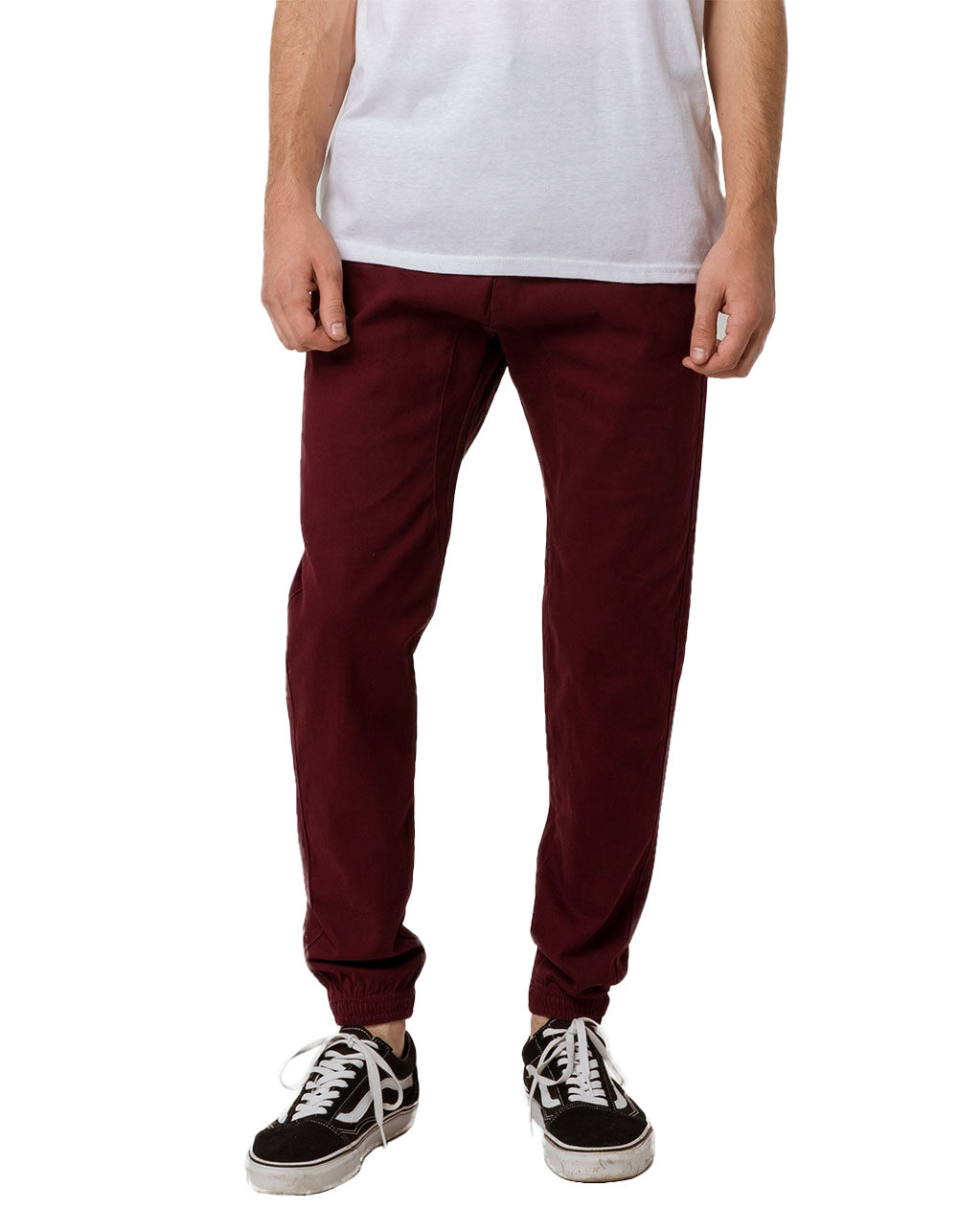 Image of CHARLES AND A HALF CABERNET TWILL JOGGER PANTS